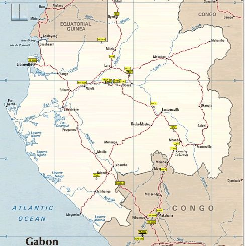 maps of gabon. Gabon Waypoints